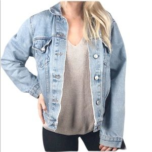Vintage Casual Corner Annex Distressed jean jacket